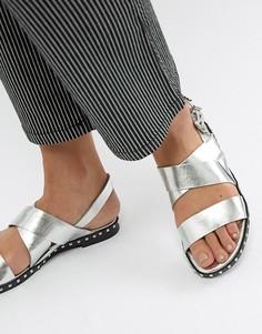 Серебристые сандалии с заклепками Sofie Schnoor - Серебряный