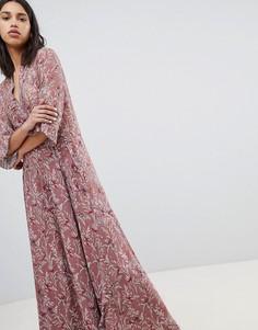 Платье макси с принтом птиц Sofie Schnoor - Мульти