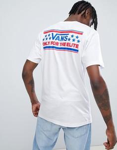 Белая футболка с принтом Vans Heritage - Белый