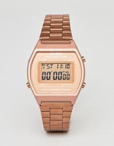 Золотисто-розовые цифровые часы Casio B640WC-1FR - Золотой