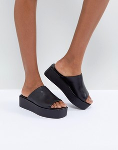Черные кожаные сандалии на платформе Vagabond Bonnie - Черный