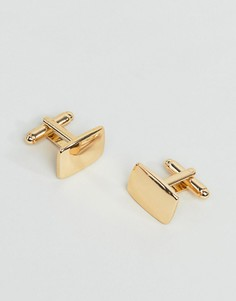 Золотистые квадратные запонки ASOS DESIGN - Золотой
