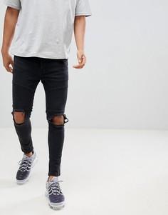 Рваные супероблегающие джинсы Night Addict - Черный