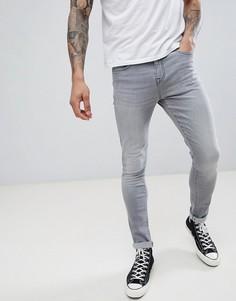 Супероблегающие серые джинсы LDN DNM - Серый