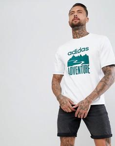 Белая футболка с принтом adidas Originals CD6811 - Белый