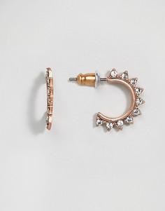 Позолоченные серьги-подвески Pilgrim - Золотой