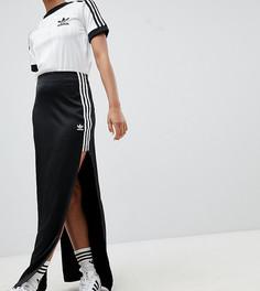 Юбка макси с разрезом Adidas Originals Fashion League - Черный