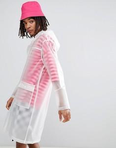 Белое прозрачное пальто-дождевик с капюшоном ASOS DESIGN - Серый