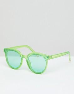 Желтые солнцезащитные очки в прозрачной оправе 7x - Желтый
