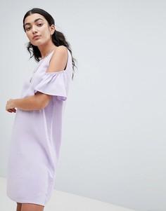 Платье А-силуэта с вырезами на плечах Noisy May - Фиолетовый