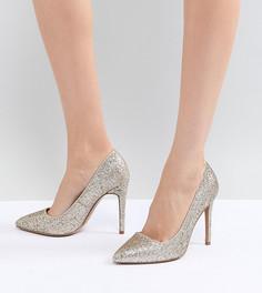 Туфли на высоком каблуке с острым носком ASOS DESIGN Paris - Золотой