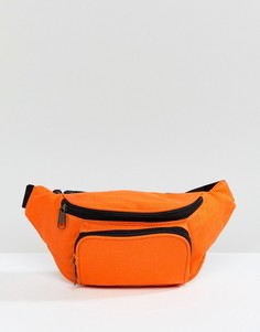 Сумка-кошелек на пояс с винтажным выбеленным эффектом 7X - Оранжевый
