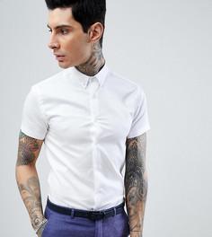 Приталенная рубашка с короткими рукавами и воротником на пуговицах Heart & Dagger - Белый
