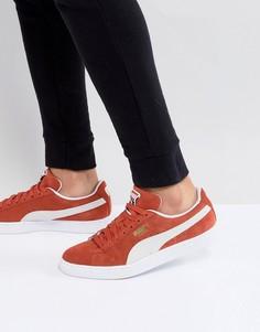 Оранжевые классические замшевые кроссовки Puma 36534707 - Оранжевый