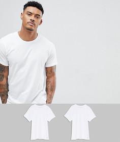2 хлопковые классические футболки Calvin Klein - Белый