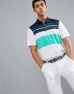 Футболка-поло в полоску adidas Golf Ultimate 365 Engineered CF7991 - Белый