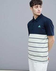 Темно-синяя футболка-поло adidas D96146 - Темно-синий