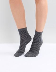 Однотонные носки в рубчик ASOS DESIGN - Серый