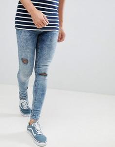 Сине-черные обтягивающие джинсы Blend Flurry - Синий
