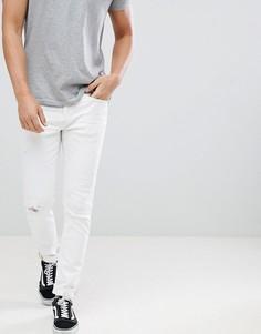 Белые джинсы скинни с прорехами Blend - Белый