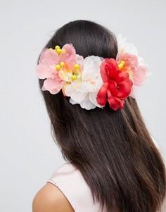 Заколка для волос с крупной цветочной отделкой ASOS DESIGN - Мульти