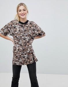 Oversize-футболка с принтом джунгли Monki - Мульти