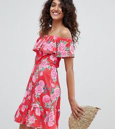 Летнее платье с ярусной юбкой и цветочным принтом ASOS DESIGN Tall - Мульти