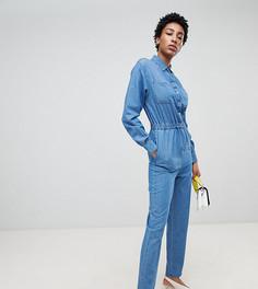 Синий джинсовый комбинезон в стиле милитари ASOS DESIGN Tall - Синий