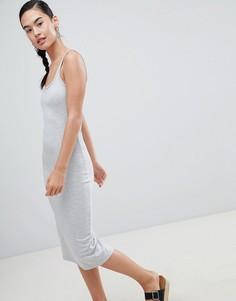 Трикотажное платье миди Pimkie - Серый