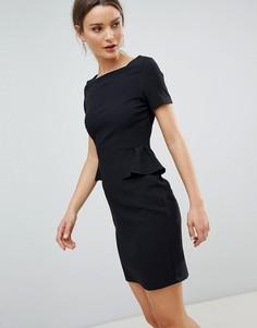 Платье-футляр с короткими рукавами и карманами Zibi London - Черный