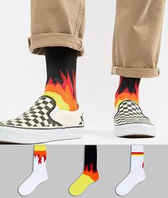 Комплект из 3 пар спортивных носков ASOS - Мульти