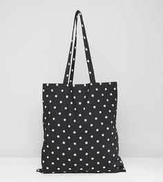 Пляжная сумка-тоут в горошек Monki - Мульти