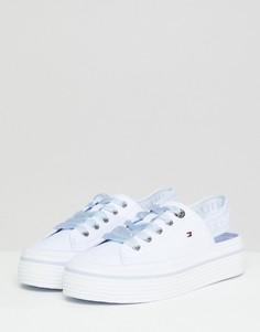 Парусиновые кроссовки Tommy Hilfiger - Белый