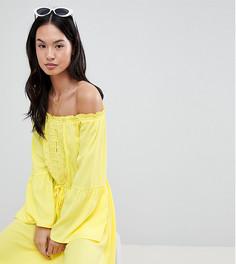 Летнее платье с кружевом Boohoo - Желтый
