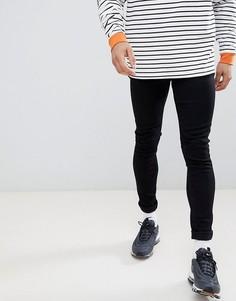 Черные супероблегающие джинсы LDN DNM - Черный