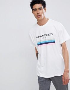 Белая футболка с принтом Unlimited New Look - Белый