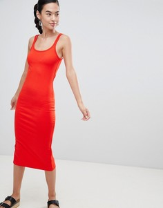 Трикотажное платье миди Pimkie - Красный