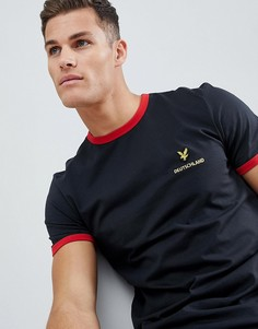 Черная футболка Lyle & Scott Germany - Черный
