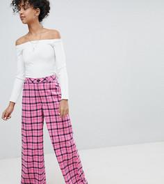 Широкие брюки в клетку Daisy Street - Розовый