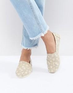 Туфли со звездным принтом TOMS - Бежевый