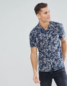 Рубашка с короткими рукавами и отложным воротником Bellfield - Темно-синий