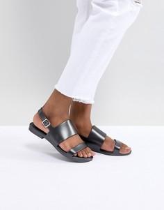Блестящие сандалии из гибкого пластика Melissa - Черный