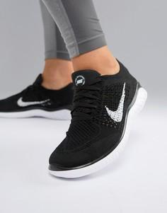 Черные кроссовки Nike Running Free Run Flyknit - Черный