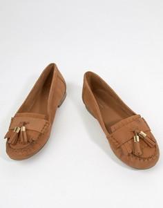 Кожаные туфли на плоской подошве Carvela Mocking - Рыжий