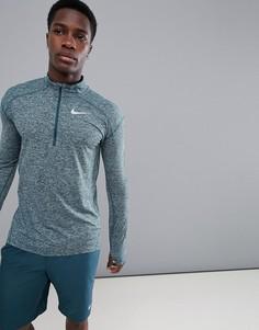 Зеленый свитшот с молнией Nike Running Dri-FIT Element 857820-328 - Зеленый