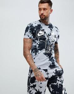 Черная футболка с принтом тай-дай Nike AO9697-012 - Черный