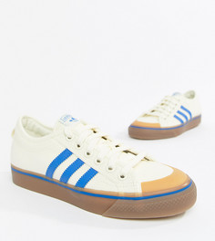 Сине-белые парусиновые кроссовки adidas Originals Nizza - Черный