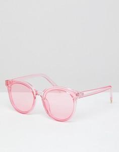 Красные солнцезащитные очки в прозрачной оправе 7x - Красный