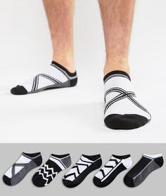 Набор из 5 пар монохромных носков ASOS DESIGN - Мульти