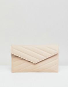 Стеганая сумка-клатч из полиуретана ASOS - Розовый